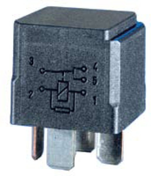 HL87530 Hella 12V 20/40A Mini Relay, SPDT With Resistor