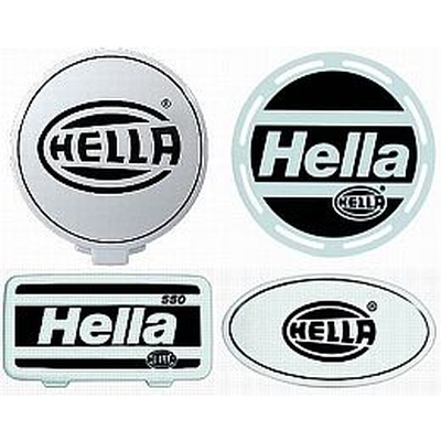 Hella Stone Shield Black on White Plastic each Rally