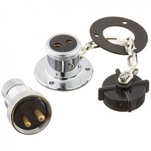 Hella Plugs & Sockets - Chrome Plated Brass - Water Resistant