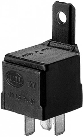 HL87419 Hella 12V 10/20A Mini Relay, SPDT with Resistor and Bracket, High Temperature