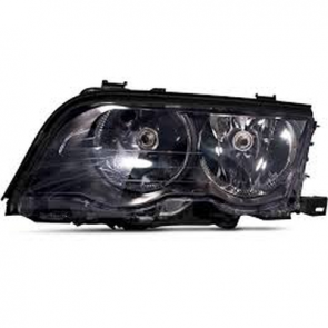 Hella BMW Headlamp 3-Series E46 99-01, Black Bezel, HL40305/6