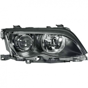 Hella BI-XENON Headlamp BMW 3-Series E46 02-05, Black Bezel, HL05201/2