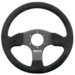 SP015P300SN Steering Wheel, Competition, 300mm Diameter, 30mm Dish in Black Suede.