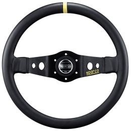 SP015R215 Steering Wheel, Competition, 215mm Diameter, 90mm Dish in Black Suede or Leather.