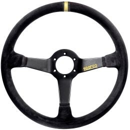 SP015R368MSN Steering Wheel, Competition, 380mm Diameter, 65mm Dish in Black Suede.