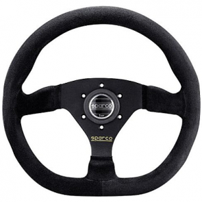 SP015TRG Steering Wheel, L360 RING, Tuning, 330mm Diameter, 36mm Dish in Black Suede or Leather.
