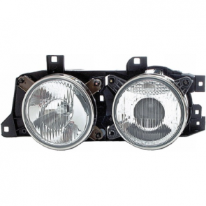 "Hella Super DE-H1 ""Smiley"" Headlamps, BMW 5-Series E34 1988>97, ECE"