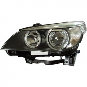 Hella Headlamp BI-Xenon BMW 5-Series E60 2004-10 with Cornering Lamp, Clear Turn, HL29101/201