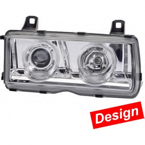 Hella Headlamp, BMW 3-Series (E46) Xenon/FF-H7 Angel Eye 90-00 , ECE, Pair, Hella 1AL 008 875-821