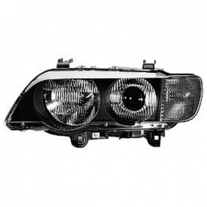Hella BI-XENON Headlamp BMW X5 White Turn Signal 04-06, HL48543/4