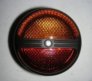 HL23730 Red Tail Light, Amber Stop-(Flasher) Light 80mm dia