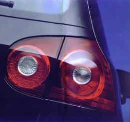 PL33145 Tail Lamp Golf V Dark Red, set