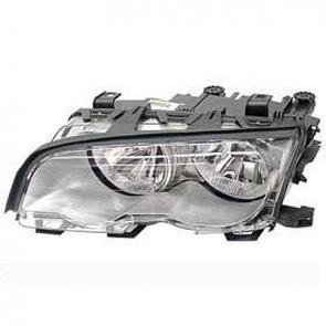 Hella Halogen Headlamp BMW 3-Series E46/2 Titanium Bezel, w/ ELL 2001-02 HL20411/2