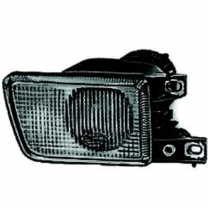 Fog Lamp, DE, Golf III, Black, TYC.