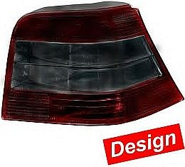 HL72082 Tail Lamp VW Golf IV, Brilliant Black/Smoke/Smoke/Black, Set.