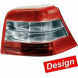 HL72085 Tail Lamp VW Golf IV, Red/White/White/Red Brilliant, Set.