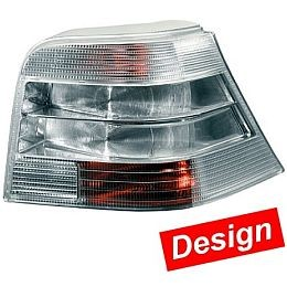 HL72087 Tail Lamp VW Golf IV, Silver, Set.