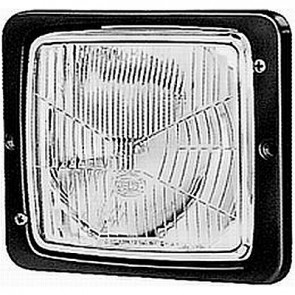 Hella 138 x 124mm H4 Single Flush Mount Headlamp