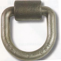 "V4151 Snappin Turtle ""D"" Ring, 12,000#, Welded Mount"