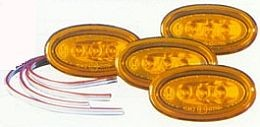 Hella 8138 Series Side Marker Lamp, LED, Oval, Set of 4
