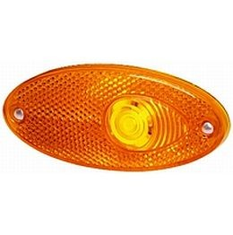 Hella 4295 Series Amber Oval Side Marker Lamp, 12V.