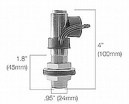 HL84251 - Mounting Bush with Fixing Screw and 1 Pole Socket