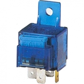 Hella HL87108 Mini Relay, 12V, 15 A, w/Blade Fuse and Bracket