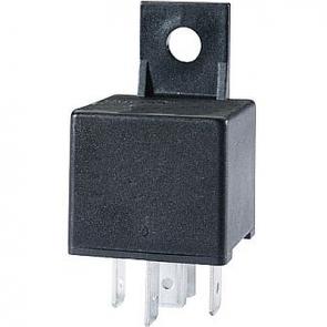 Hella HL87118 Mini Relay, 12V, 40A, SPST, Dual 87 Pin with Bracket