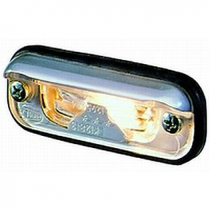 Hella 1378 Series License Plate Lamp for Flush Fit mounting