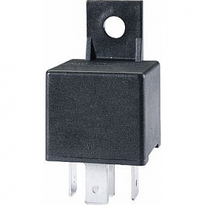 Hella HL87106 Mini Relay, 12V, 30A SPST with Bracket