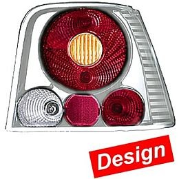 HL98080 Tail Lamp Golf IV, Design Combination Transparent/Brilliant (Silver), Set