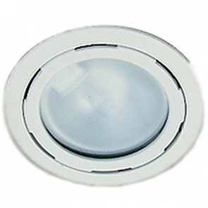HL63606 Lamp Interior Model 8516, 12V, Flush Mount, White Bezel