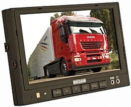 "A2584 Monitor - Color 7.0"" TFT LCD Wide Screen, Three Camera Inputs + Audio."