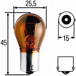 CP17638 BAU15s Incandescant Amber Bulb, 21W, 12V