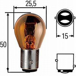Hella HL78267 S-8, 12v, 28/7W BAY15d Incandescent Amber Bulb