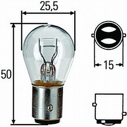 BAY15d Incandescent Bulb, 1157HP