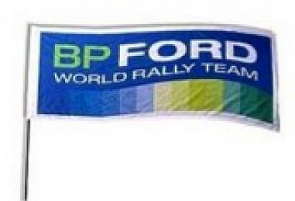 WCRE11240 Official WRC Ford Flag with Pole