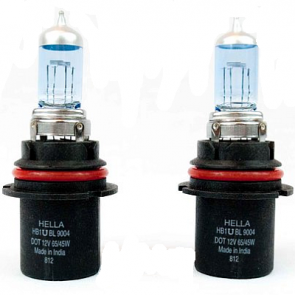 9004/HB1, 12v, Hella High Performance Xenon Blue Bulb, Pair
