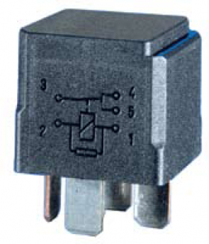 HL87530 Hella 12V 20/40A Mini Relay, SPDT with Resistor, High Temperature