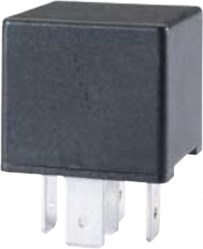 HL87404 Hella 12V 10/20A Mini Relay, SPDT with Resistor.