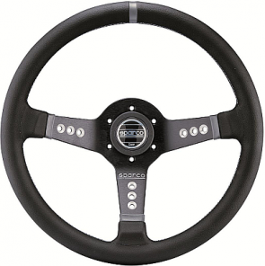 SP015L800 Steering Wheel, PIUMA L777, Tuning, 350mm Diameter, 63mm Dish in Black Suede or Leather.