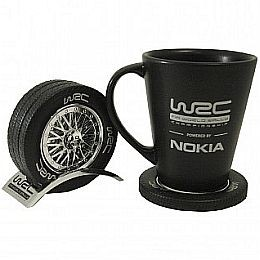 WCRE11112 Official WRC Chrome Drink Coaster Set