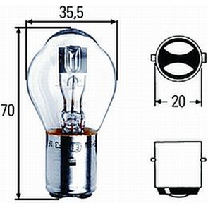 HL78168 S2 Bulb 35/35W BA20d Base