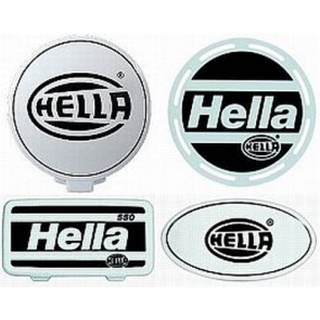 Hella Stone Shield Black on White Plastic, each