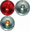 Hella 90mm Round 5039 Series Brilliant Rear Signal Lamp, SAE