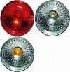 Hella 90mm Round 5039 Series Brilliant Rear Signal Lamp, SAE