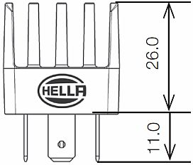 hella hl87251 mini solid state relay  12v  20a
